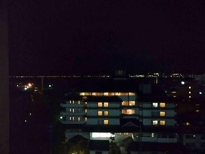 諏訪湖の眺め(夜景)