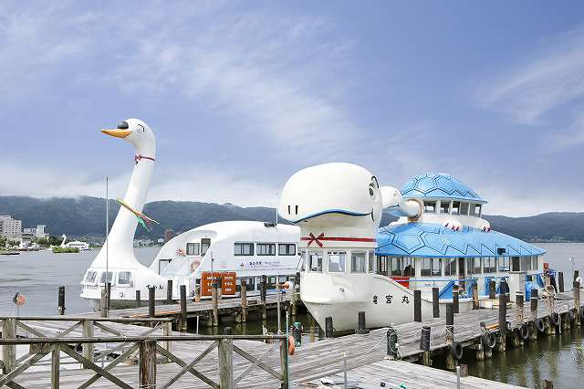 諏訪湖遊覧船、桟橋