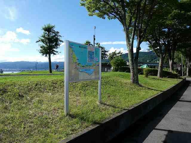 諏訪市湖畔公園の案内図