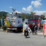 諏訪湖で水陸両用バスの運行開始