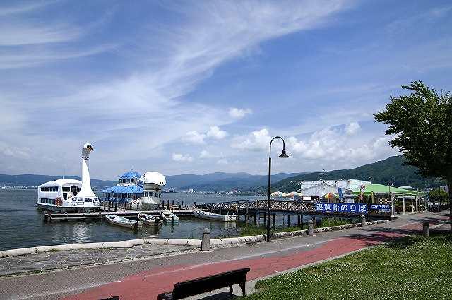 諏訪湖遊覧船乗り場