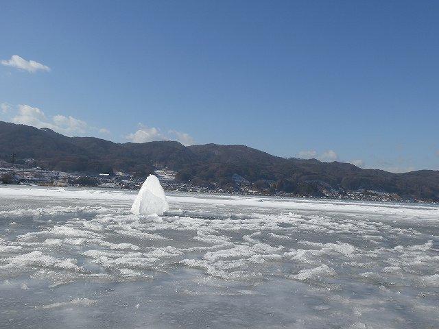 諏訪湖の氷