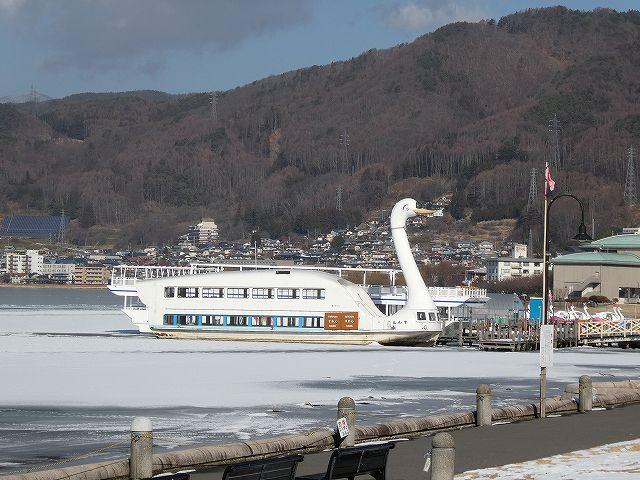 諏訪湖の遊覧船、白鳥丸