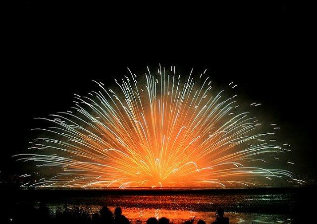 諏訪湖花火大会Kiss of Fire