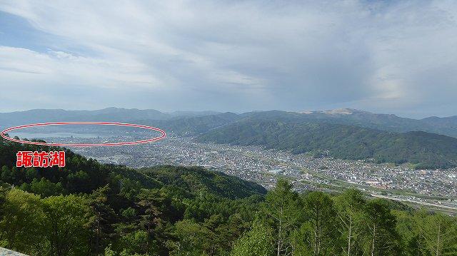 峠の展望台からの諏訪湖